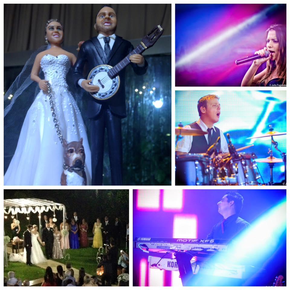 Banda faz a animação da festa de casamento. Musica para casamento que anima a pista e mantém todos os convidados até o final
